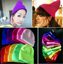 Hip-hop Ski Skull Cap Winter Unisex Fashion Candy Color Knit Hat Crochet Beanies