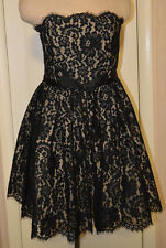 Women's Neiman Marcus Robert Rodriguez Black Lace Party Cocktail Dress 2-14
