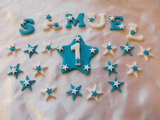 Edible Personalised Name Age Star Or Blossom Flower Sugar Plaque Cake Decoration