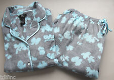 *Aria Women's 2-Piece Pajama Set Micro Fleece Variety Sizes Gray Blue NEW