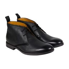Clarks Novato Mid Mens Black Leather Casual Dress Boots Shoes