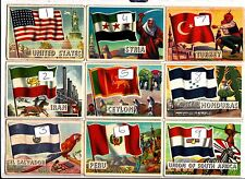 Flags of the World large version A&BC Gum £1 EACH.JUST PICK THE CARDS YOU NEED