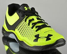Under Armour Micro G Elevate UA Mens Training Sneakers Volt Black & Yellow NEW