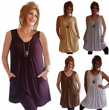 @K429 BLOUSE SHIRT TUNIC TOP JERSEY BABY DOLL POCKETS FASHION STYLE MADE 2 ORDER