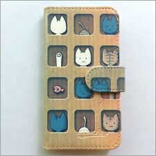 Brand new Cartoon cats wallet Flip case cover for Samsung/iphone/Nokia/HTC