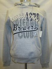 Milwaukee Brewers Women Hooded Sweatshirt with Big Letters Gray