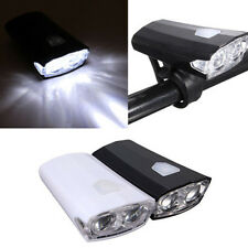 Torch Ultra Bright USB Rechargeable 15 Lumens Front Bike Bicycle LED Light Lamp