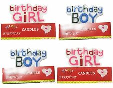 Hot Pink Red Blue Birthday Party Baby Boy Girl Cake Tea Light Candle