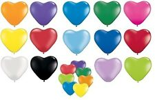 "Pack of 6 Qualatex 6"" Heart Shaped Latex Party Balloons (2 of 2 Listings)"