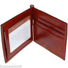 Bosca Mens Old Leather BiFold Wallet with Money Clip & ID Window 458