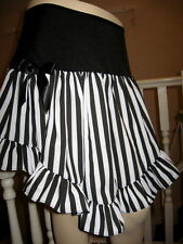 New Moulin Rouge Showgirl Burlesque Black White party Skirt Gothic All sizes