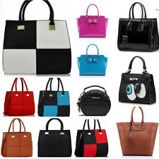 Women's Ladies Designer Celebrity Tote Bag Leather Style Smile Shoulder Handbag