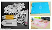 Sugarcraft Cake Decorating Fondant Icing Cutters Tools Silicone Mat UK Seller