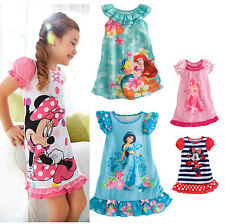 NEW Kids Girls Baby Toddler Clothes Mickey Minnie Princess Party Costume Dresses
