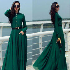 Womens Chiffon Muslim Boho Cocktail Evening Gown Prom Long Maxi Formal Dress NEW