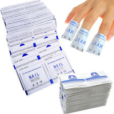UK 50/100/200pcs Remover Wraps For Gel Polish Acetone Pad Foil Nail Art Cleaner