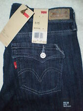 Levis 515 Mid Bootcut Stretch Womens Blue Denim Jeans Flap Pockets New