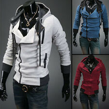Stylish Mens Assassins Creed 3 Desmond Miles Costume Hoodie Cosplay Coat Jacket