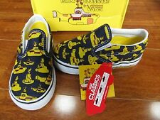 NEW VANS CLASSIC SLIP ON SHOES BEATLES YELLOW SUBMARINE TODDLER SIZE