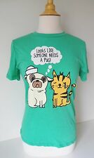 Black Matter Loyal Army Clothing Graphic Tee Looks Like Someone Need A PUG Green