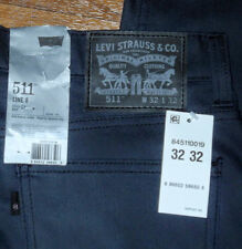 NEW Levis 511 Slim Fit Tapered Leg Men's Gray Jeans Beige Pants Sz 32 36 38