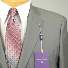 38S SAVILE ROW Solid Grey SUIT SEPARATE  38 Short Mens Suits - SS22