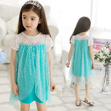 NWT Bling Sequins Girls Kids Princess Costume Tulle Gown Dress Outfits 2-7T