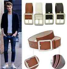 1x Simple Trendy Men's Business Buckle Waistband Artificial Leather Casual Belt