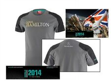 T-SHIRT Formula One 1 Mercedes AMG Petronas F1 Team Lewis Hamilton NEW! Grey