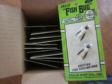 "Box of 24 NOS ""FISH BUG"" Bait By Falls Bait Co. Size 3 with free shipping!"