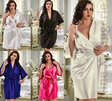 NineX Satin Dressing Gown Plus Size 8 10 12 14 16 18 20 22 24 26 Bridesmaid Robe