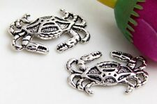 Wholesale 36/78Pcs Tibetan Silver Crab  Charms 20x13mm(Lead-free)
