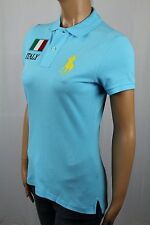 Ralph Lauren Blue Skinny Fit POLO Italy Big Yellow Pony NWT $125