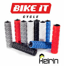 KEIRIN BLACK HANDLEBAR GRIPS - MOUNTAIN BIKE MTB BMX BICYCLE CYCLE SCOOTER 1PR