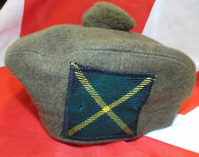 GORDON HIGHLANDERS SCOTTISH KHAKI TAM O SHANTER - SIZES - British Army Issue