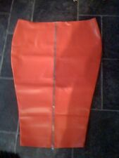 THE FEDERATION FAUX LEATHER  LONG HOBBLE SKIRT  ZIP FRONT NEW  44INCH WAIST
