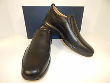 NEW COLE HAAN ELTON C13160 BIKE TOE BLACK PEBBLE GRAIN W/ SMOOTH LEATHER LOAFERS