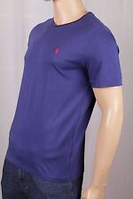 Polo Ralph Lauren Blue V-Neck Tee T-Shirt Red Pony NWT