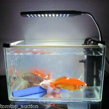 White/Blue Aquarium Clip Clamp Lamp Light For Fish Tank 48 LED 2 Work Modes