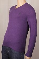 Polo Ralph Lauren Purple Merino Wool Sweater Green Pony NWT