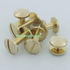 Solid Brass Arc Button Stud Screw nail 8 10 12 15 Screwback Leather Belt Chicago