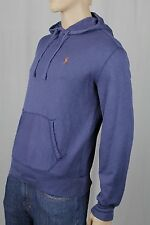 Polo Ralph Lauren Blue Pullover Hoodie Sweatshirt Orange Pony NWT