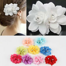 Colorful Fabric Hair Flower Clip Pin For Bridal Wedding Prom Party Women 2014