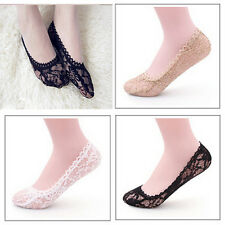 Women Rose Lace Invisible Shallow Mouth Socks Boat Non-slip Short Socks