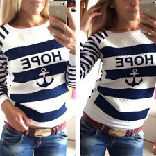 Fashion Womens Long Sleeve Jumper Pullover Tops Blouse T Shirt UK 8 10 12 14 16