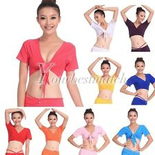 Hot Women's Slim Sexy Belly Dance TOP Yoga Costumes Choli Ladies Dancewear New