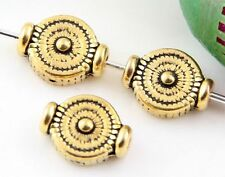 Wholesale 47/100Pcs Tibetan Gold  Spacer Beads 10x4mm(Lead-free)
