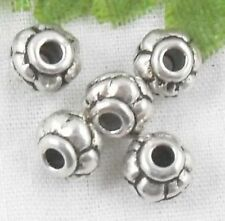 Wholesale 61/132Pcs Tibetan Silver  Spacer Beads 6x5mm(Lead-free)