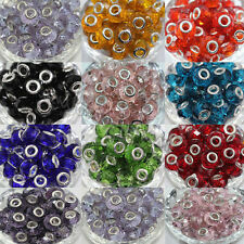 New5Pcs Glass Murano Big Hole Lampwork Beads Fit European Charm Bracelet 14x10mm
