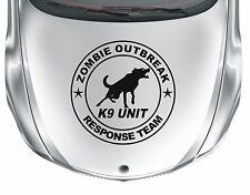 Zombie Oubreak #3 - vinyl K9 unit wall car van sticker decal - WS1023